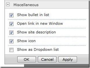 subsites webpart configuration