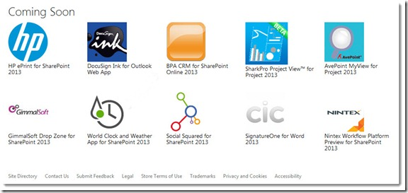 Sharepoint 2013 Preview App Store