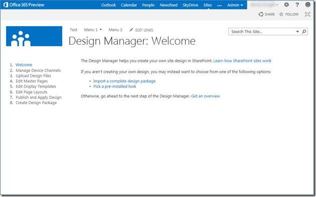Sharepoint Preview SharePointcom - Sharepoint design manager