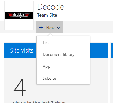 how to create a new sharepoint site in office 365